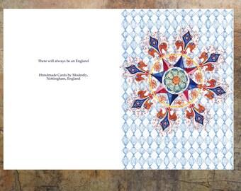 Greeting Card, Handmade card, Personalised Card, birthday card, Anniversary card, Sympathy card,  Artist card, Blank card