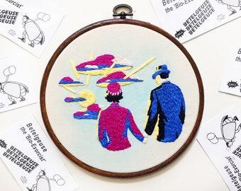 """Beetlejuice Handbook for the Recently Deceased 6"""" Embroidery Hoop"""