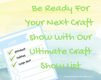 Ultimate Craft Show Checklist, Download Yours