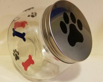 Pet glass treat bowl