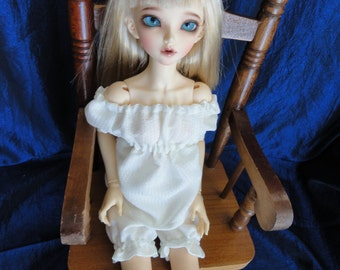 MSD BJD  Chemise and Bloomer Cream