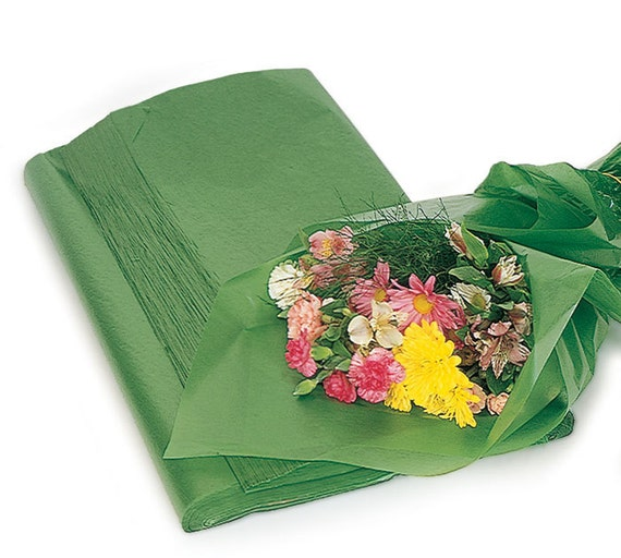 10 large sheets green waxed floral tissue paper for flowers mightylinksfo