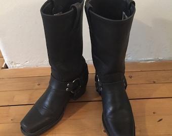 Frye vintage biker boots