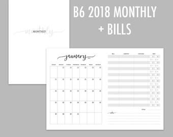 B6 TN Monthly + Bills 2018 (Jan - Dec)