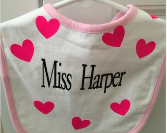 Bib, Baby Bib, Infant Bib, Monogram Infant Bib