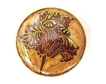 Vintage metal button flower ornament 26mm, beautiful