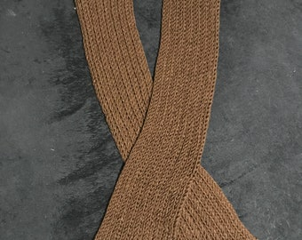 Dark brown scarf