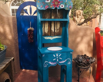Traditional Mexican washstand.