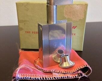 Vintage 1950s Elizabeth Ames silver tone purse perfume atomizer