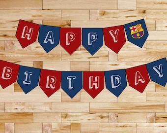 Happy Birthday Printable Barca Banner