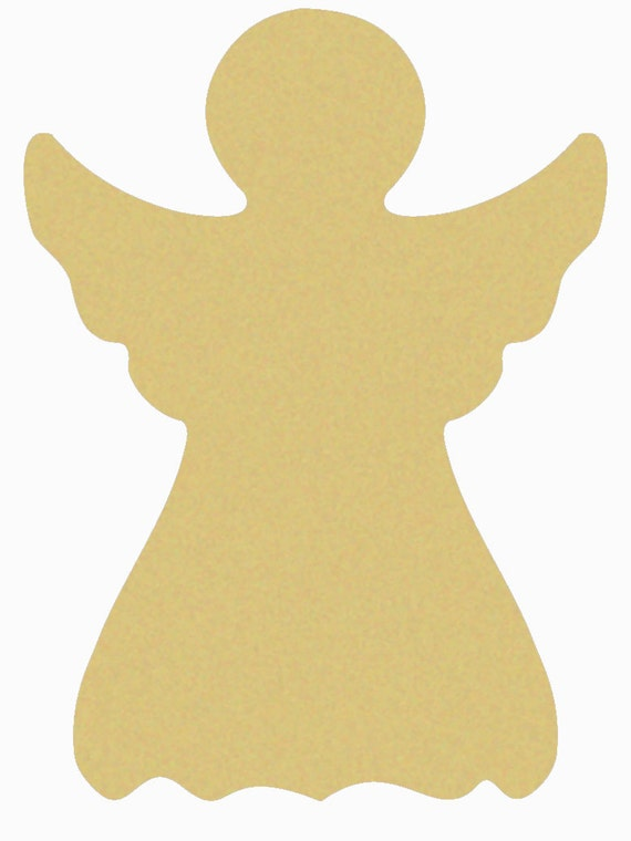 Angel unfinished wooden craft shape do it yourself like this item solutioingenieria Image collections