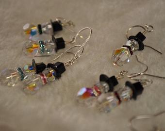 Crystal Snowman Earrings