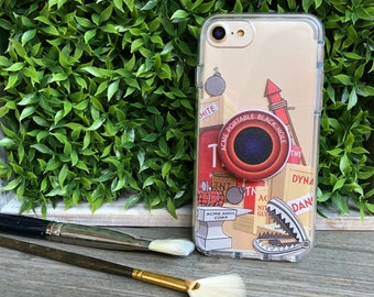 Classic Cartoon Tricks Phone Case with Pop Up Grip and Stand for iPhone 6, 6 Plus, 7, 7Plus, 8, 8 Plus and X