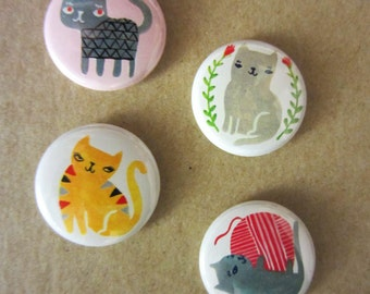 Sassy Cats Button