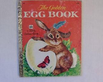 Little Golden Book The Golden Egg Book by Margaret Wise Brown IllsLillian Obligado  1974 EditionEaster Gift