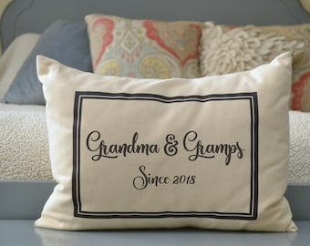 Personalized Pillow, Grandparent announcement, Pregnancy reveal, Mother's Day, hard to buy for, Christmas for grandparents