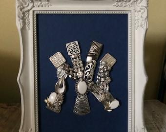 5x7 New York Yankee Insipred -Upcycled Jewelry Art