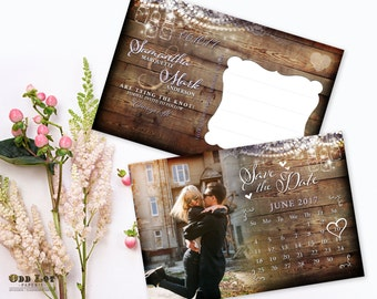 Rustic Save the Date, Printable Wedding, Photo Save the Date, Custom Rustic Invite, Fall Wedding, Barn Wedding, Autumn save the date cards