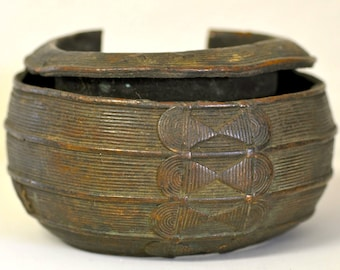 Antique Baule Bronze Anklet Currency from Ivory Coast, West Africa - BR74