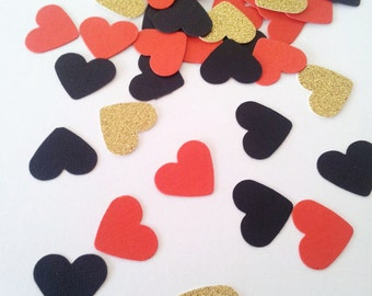 Queens of Hearts Confetti / Table Scatters - Party Decoration