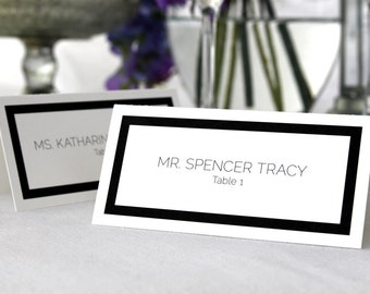FULL SERVICE Escort Cards Wedding Party Art Deco Simple Elegant Customized