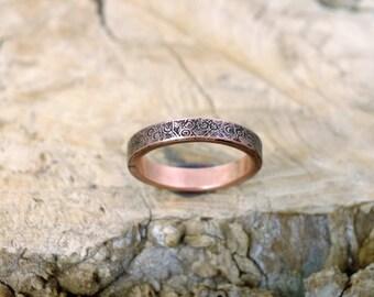 10 3/4 plus, Copper Ring, Arthritis Ring, Copper Jewelry, Adjustable Ring, Mens copper Ring - Womens copper Ring - Rustic copper Ring - USA