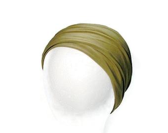 Khaki Green Headband Khaki Headband Mans Head Wrap Unisex Khaki Green Lycra Headband Yoga Headband Yoga Head Wrap Army Green Head Wrap