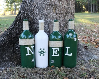 "Christmas Bottle/Christmas Decorations/Holiday Decorations/""NOEL"" Bottles/Holiday Bottles"
