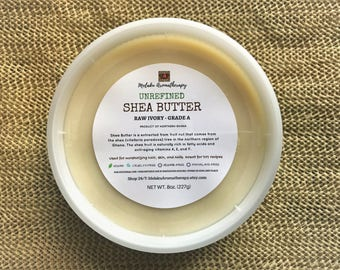 Organic Shea Butter, Raw Shea Butter, Unrefined Shea Butter, Shea Butter Raw, Moisturizer, Fair Trade, Skincare, Vegan, Hair Care, DIY, 8oz