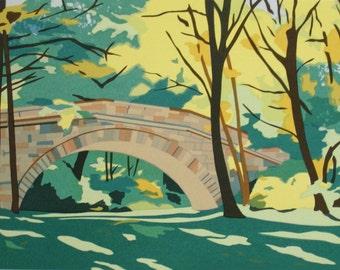 Stone Footbridge, limited edition serigraph