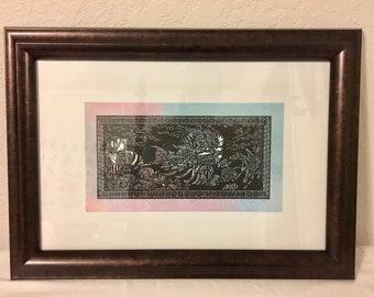 Mermaid Lionfish Silhouette / Hand Cut Paper Art / Hand Cut Silhouette