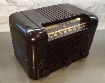 1940 RCA Bakelite Radio 15X, Full Elec Restoration, Bakelite