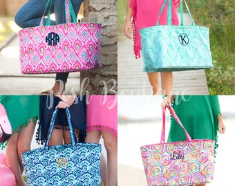 Monogrammed Ultimate Tote Bag, Beach Bag, Monogrammed Utility Tote Bag, Ultimate Tote, Group Order Discounts - Free Monogramming!
