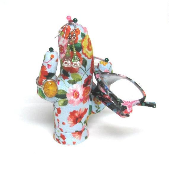 Short Flowering Saguaro CACTUS-Stand ~ Eyelass Holder ~ Ready to Ship