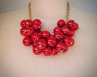 Extra large red pearl necklace