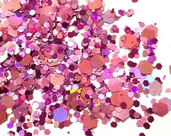 "Glitter Mix ""Berrylicious"" /  Nail Art Glitter / Loose Glitter / Chunky Glitter / Nail Glitter"