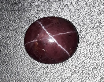 11. cts natural red garnet star 4 ray, smooth cabochon oval shape size 9x12 mm high quality loose gemstone