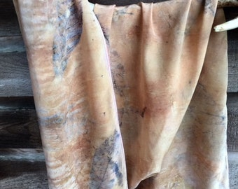 Crepe de Chine Silk Scarf- Cacao Sunset (14x70in approx)