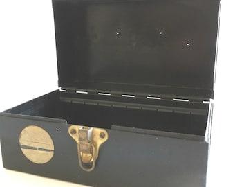 Vintage File Box | Industrial Metal File Holder | Small Metal Box | Industrial Decor | Rustic Metal Box | Rustic Farmhouse Decor