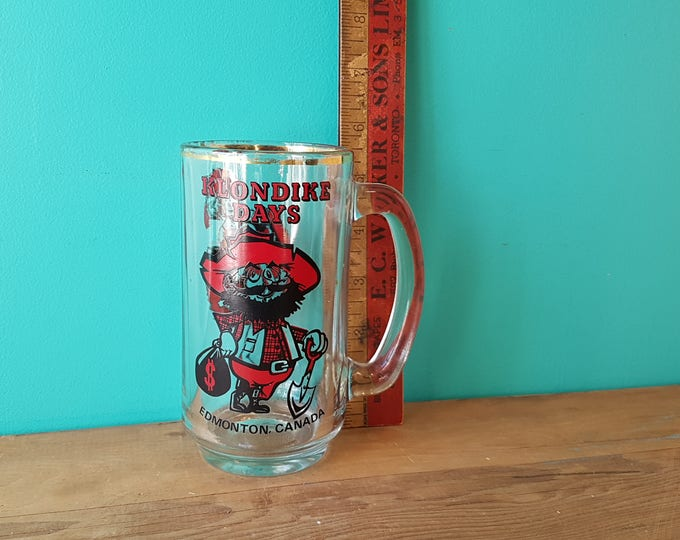 Edmonton Klondike Days Souvenir Glass Beer Stein
