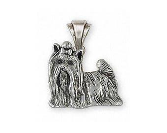 Yorkie Pendant Jewelry Sterling Silver Handmade Yorkshire Terrier Pendant YK292X-P