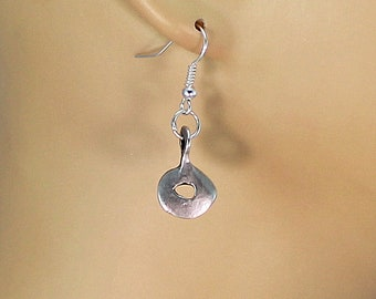 Silver earring dangles, dangle earrings, surgical steel earwires.
