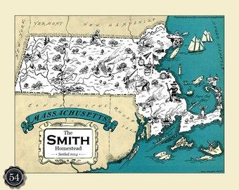 Vintage boston map | Etsy