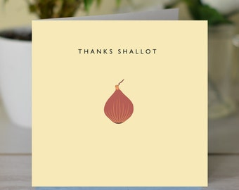 Thanks Shallot 'Thank You' card