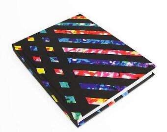 Modern Notebook, Writing Journal, Masculine Funky, Travel Journal, Geometric Design, Travel Diary, Fun Notepad, Unique Design, Writing Book
