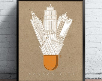Kansas City Icons Screen Printed Poster