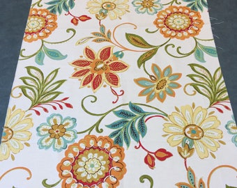Upholstery Fabric Floral. 1/2 yd. White Upholstery Fabric. Floral Upholstery Fabric. Patio Fabric. Pool Fabric.