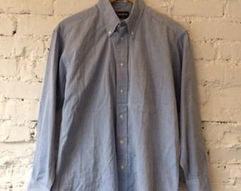 Vintage Gitman Bros Cotton Button Down Dress Shirt / Oxford / 90s 1990s / Made in USA