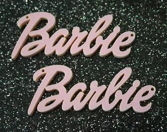 10 x Laser cut acrylic Barbie pendants