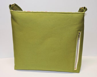 Leaf Green Canvas Concealed Carry Purse, Women's Handbag, CCW Crossbody
